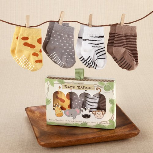 4-Pair Safari Theme Sock Set