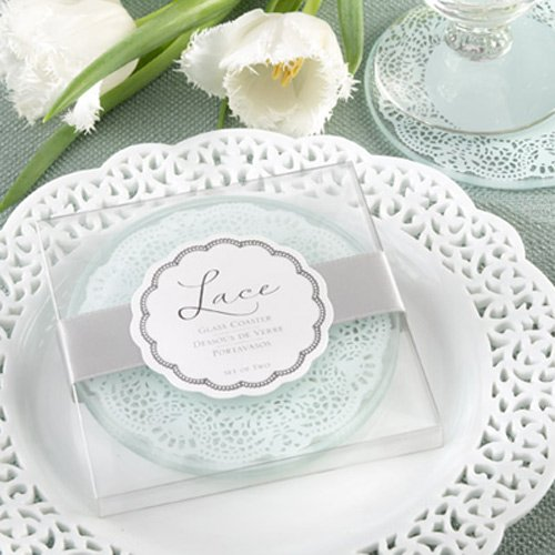 Lace Frosted-Glass Coasters