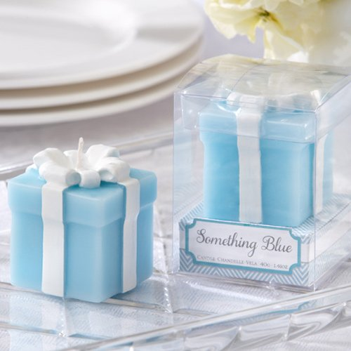 Something Blue Wedding Gift Candles