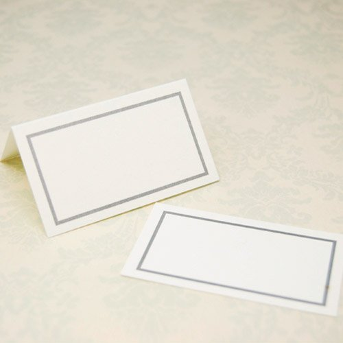Wedding Place Cards - Classic Silver
