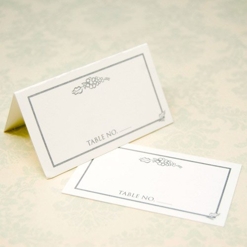 Wedding Place Cards - Silver Grapes
