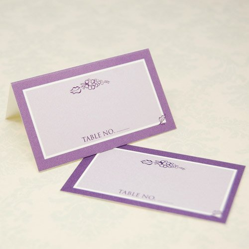 Wedding Place Cards - Grapes
