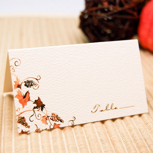 Themed Place Cards - Rustic Vines