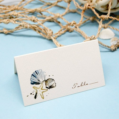 Themed Place Cards - Seashells