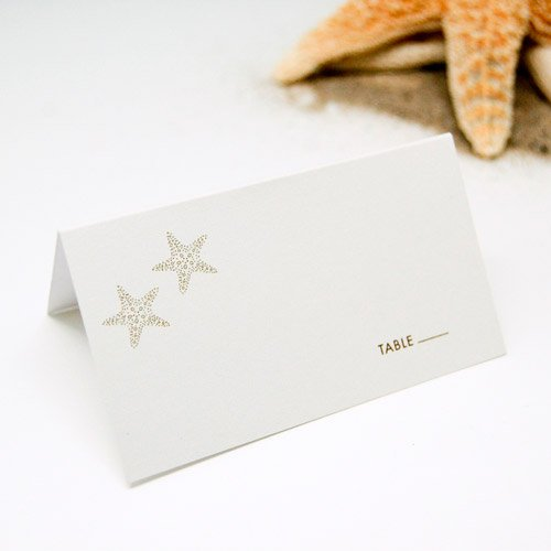 Themed Place Cards - Star Fish