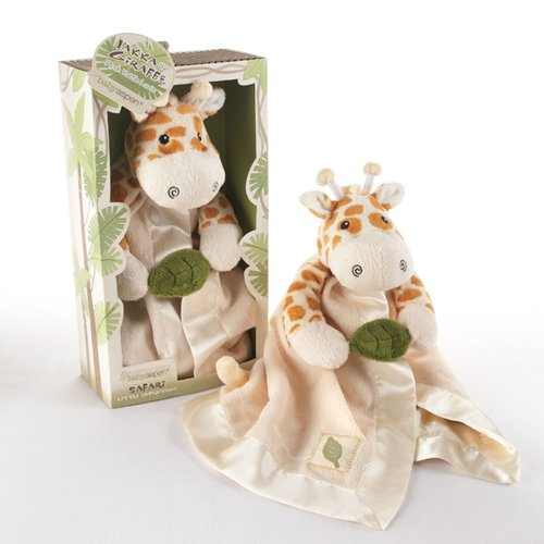 Giraffe Plush Rattle Lovie with Crinkle Leaf