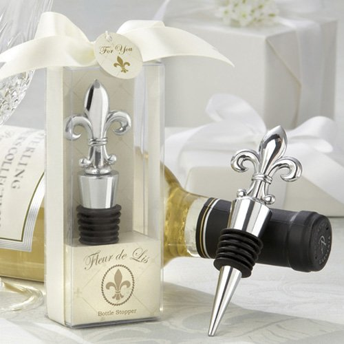 Fleur-De-Lis Chrome Bottle Stopper