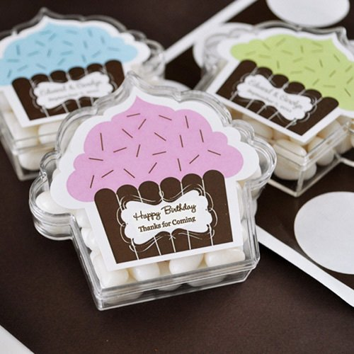 Personalized Cupcake Acrylic Favor Box