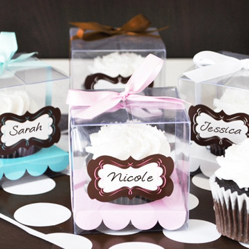 Personalized Cupcake Favor Boxes