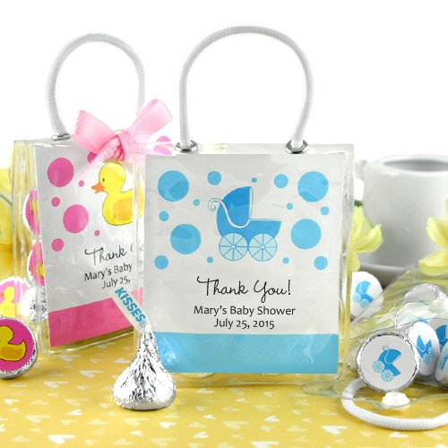Personalized Baby Shower Hershey's Kisses Mini Gift Tote