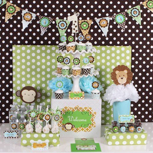 Jungle Safari Baby Shower Party Kit