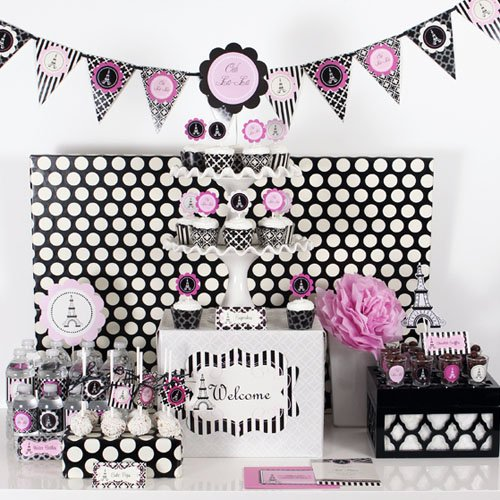 Paris Themed Party Kit