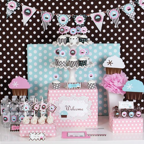 Cupcake Themed Party Kit
