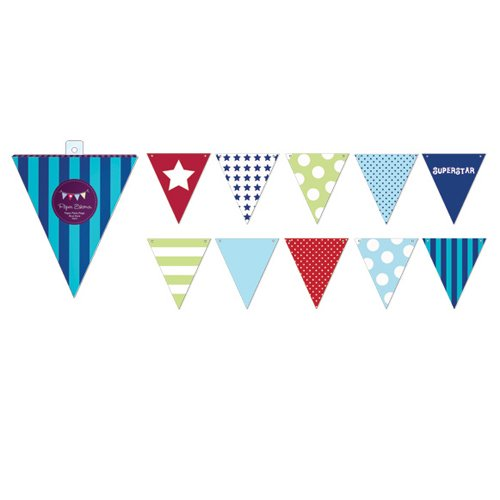 Blue Style Party Flags
