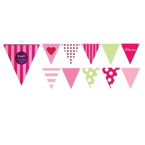 Pink Style Party Flags
