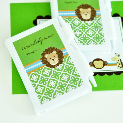 Personalized Jungle Safari Baby Shower Notebook Favor