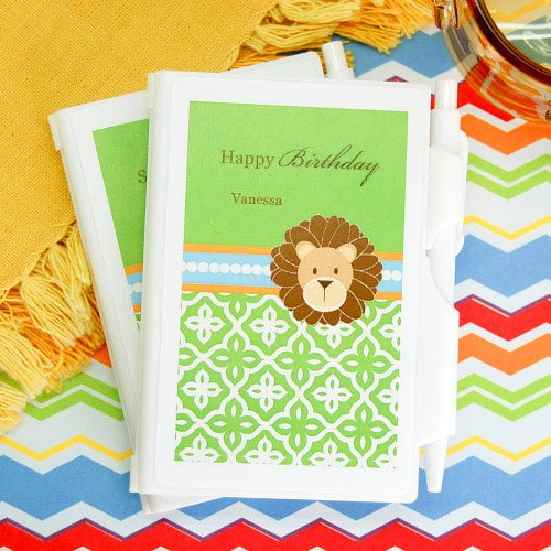 Personalized Jungle Safari Notebook Favor