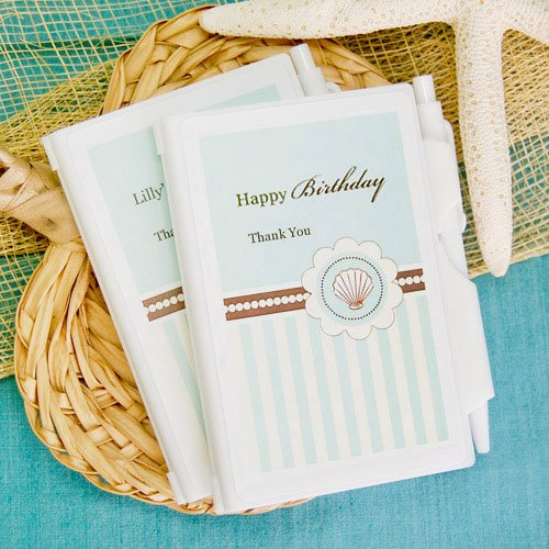Personalized Beach Themed Notebook Favor