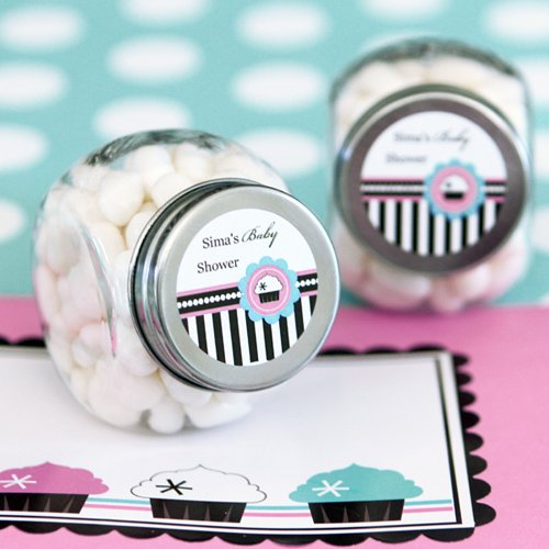 Personalized Cupcake Themed Mini Candy Jar