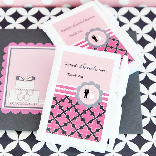 Personalized Wedding Shower Notebook Favor