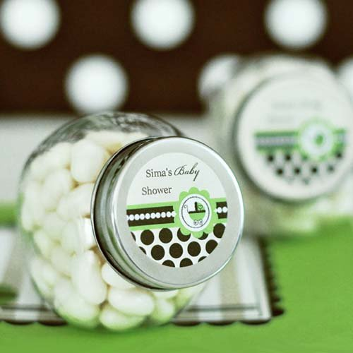 Personalized Green Baby Mini Candy Jar