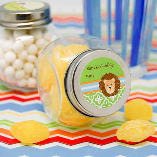 Personalized Jungle Safari Mini Candy Jar