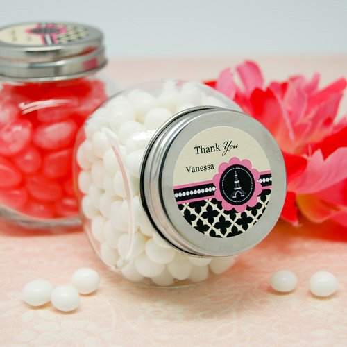 Personalized Paris Themed Mini Candy Jar