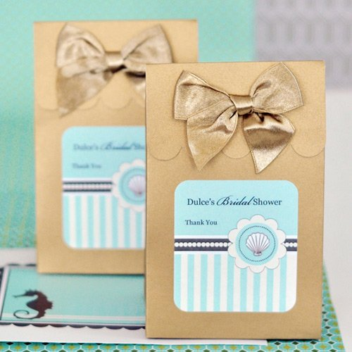 Personalized Beach Themed Candy Bags