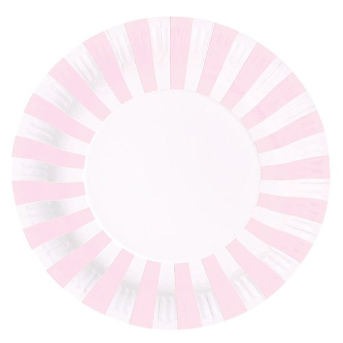 Pretty Stripes Paper Plates