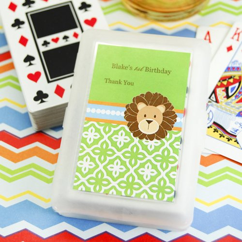 Jungle Safari Playing Cards with Personalized Labels