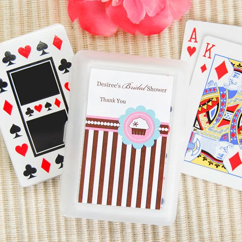 Cupcake Themed Playing Cards with Personalized Labels