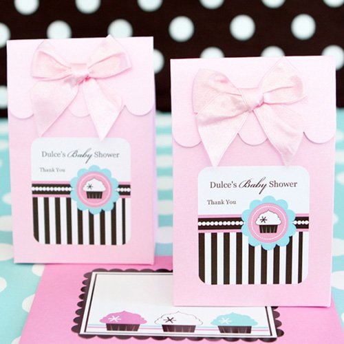Personalized Cupcake Themed Candy Bags