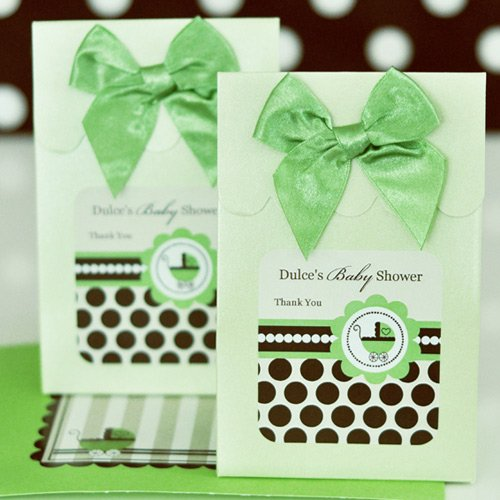Personalized Green Baby Candy Bags