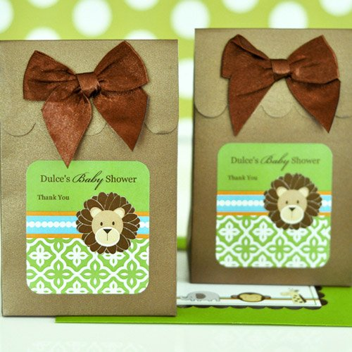 Personalized Jungle Safari Baby Shower Candy Bags