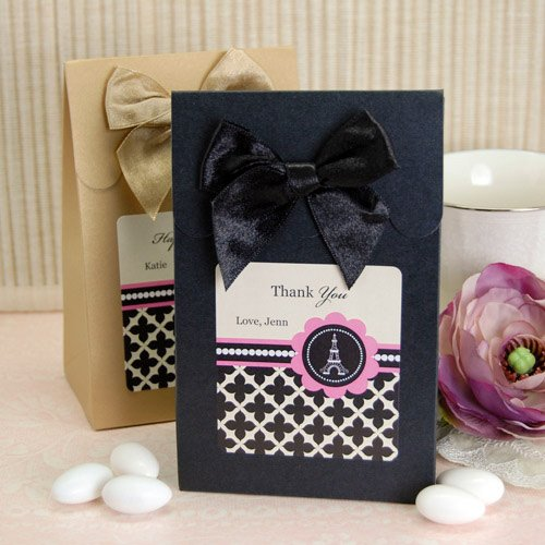 Personalized Paris Themed Candy Bags
