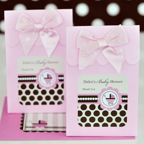 Personalized Pink Baby Candy Bags