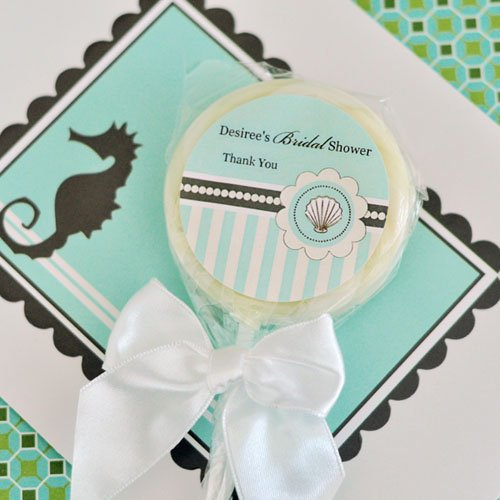 Personalized Beach Themed Lollipop Favor