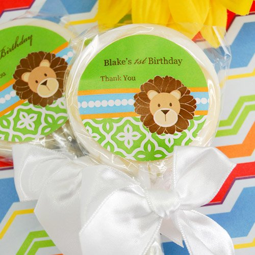 Personalized Jungle Safari Lollipop Favor