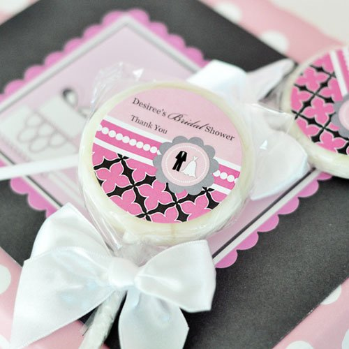 Personalized Wedding Shower Lollipop Favor