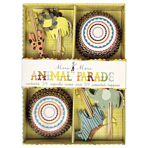 Animal Parade Party Cupcake Kit