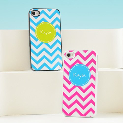 Personalized Chevron Print iPhone Case