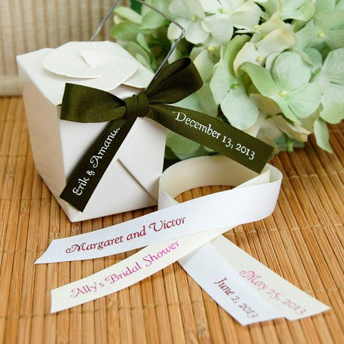Personalized Eco-Friendly Pre-Cut Ribbon