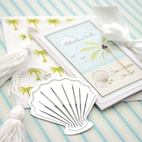 Seashell Bookmark in Personalized Folder