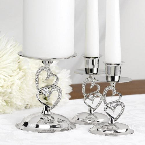 Sparkling Love Unity Candle Stand Set
