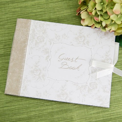 Classic White Floral Party Guestbook