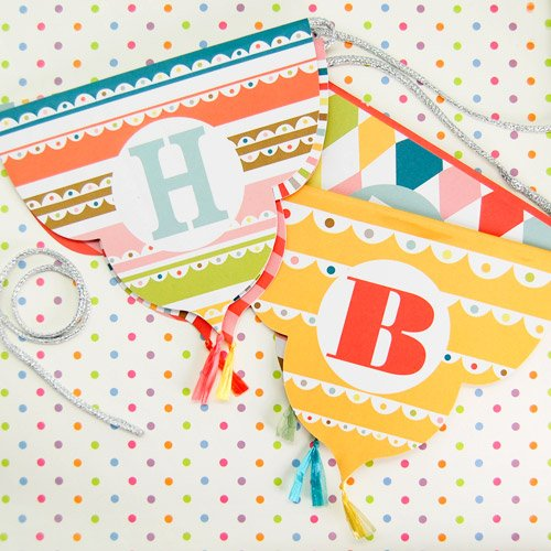 Bright Pattern Birthday Party Garland