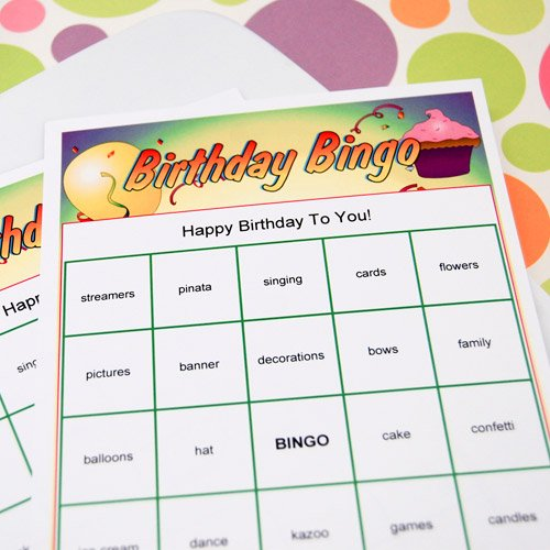 Personalized Birthday Bingo Game