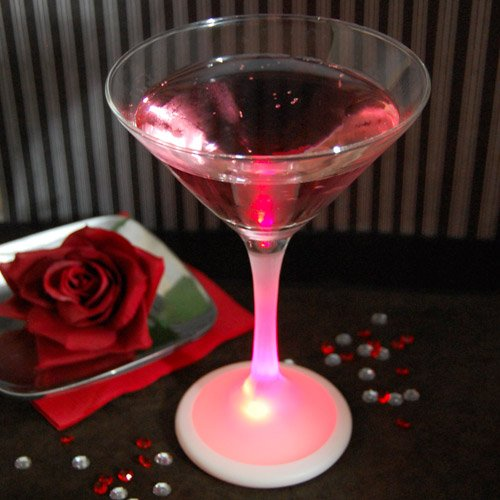 Martini Glass with LED Base