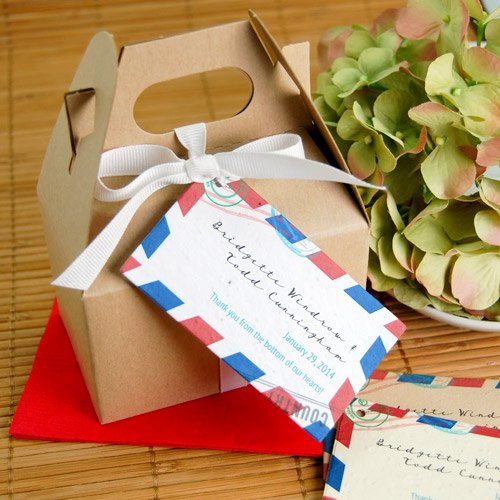 Passport Plantable Favor Tag