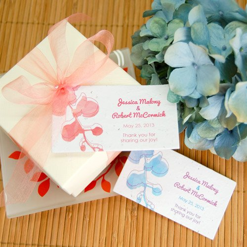 Watercolor Orchids Plantable Favor Tag